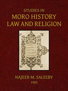 new-cover-studies in moro history by saleeby